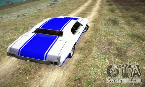 GTA IV Sabre Turbo for GTA San Andreas left view