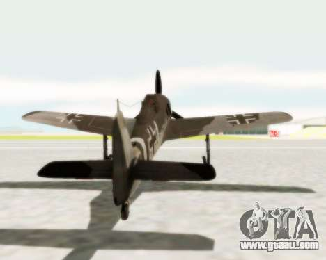 Focke-Wulf FW-190 A5 for GTA San Andreas right view