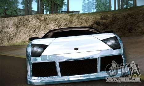 Lamborghini Murcielago GT Coloured for GTA San Andreas inner view