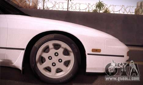 Nissan 240SX 1991 Tunnable for GTA San Andreas back view