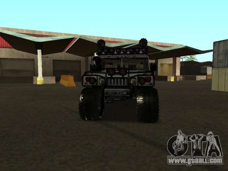 Hummer H1 Offroad for GTA San Andreas back view