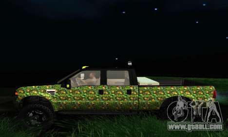 Ford F-250 Realtree Camo Lifted 2010 for GTA San Andreas right view