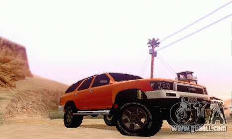 Toyota 4Runner 1995 for GTA San Andreas back left view