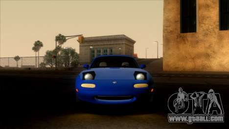 Mazda MX-5 Miata (NA) 1989 for GTA San Andreas back view