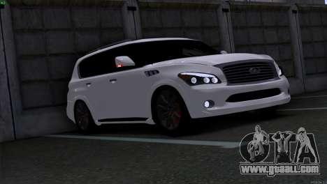 Infiniti QX56 for GTA San Andreas