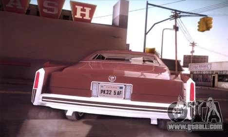 Cadillac Eldorado 1978 Coupe for GTA San Andreas inner view