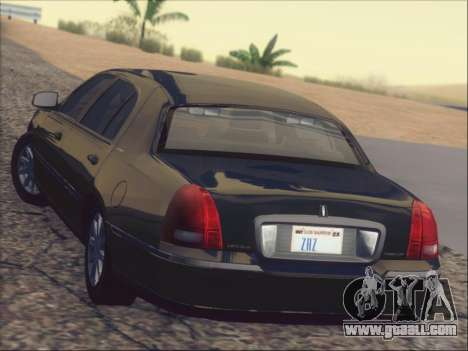 Lincoln Town Car 2010 for GTA San Andreas interior