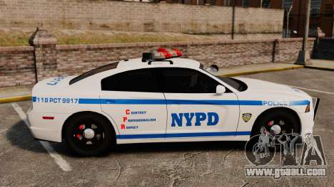 Dodge Charger 2012 NYPD [ELS] for GTA 4 left view