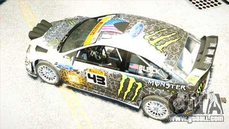 Ford Focus RS Monster World Rally Team WRC for GTA 4 inner view