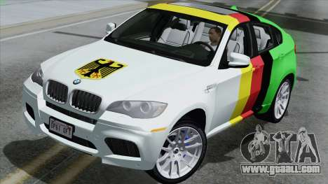BMW X6M for GTA San Andreas back left view