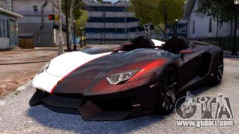 Lamborghini Aventador J 2012 Carbon for GTA 4 back left view