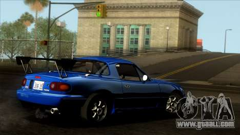 Mazda MX-5 Miata (NA) 1989 for GTA San Andreas interior