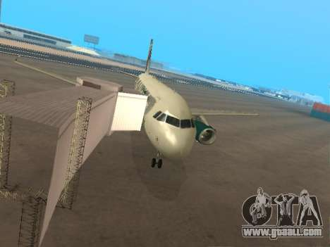 Airbus A319-111 Frontier Airlines Red Foxy for GTA San Andreas bottom view