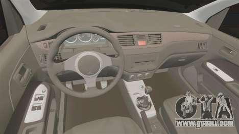 Mitsubitsi Lancer MR Evolution VIII 2004 Tuning for GTA 4 inner view