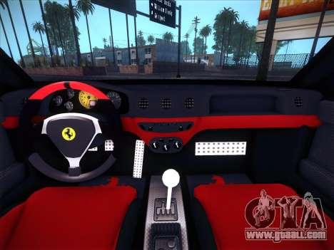 Ferrari 360 Challenge Stradale for GTA San Andreas inner view