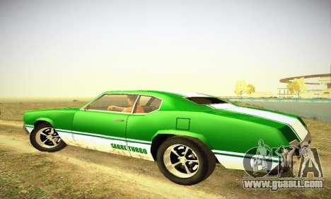 GTA IV Sabre Turbo for GTA San Andreas back view