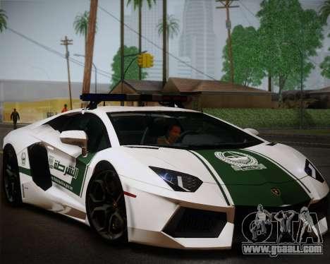 Lamborghini Aventador LP700-4 2012 RCPD V1.0 for GTA San Andreas