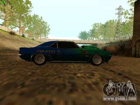 Chevrolet Camaro z28 Falken edition for GTA San Andreas right view