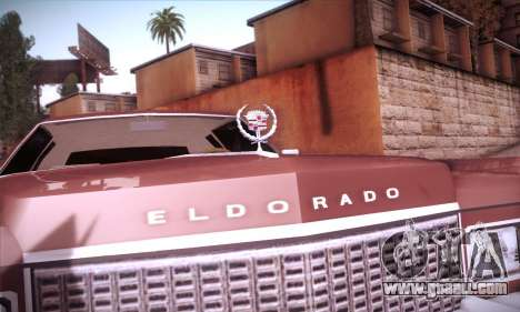 Cadillac Eldorado 1978 Coupe for GTA San Andreas upper view