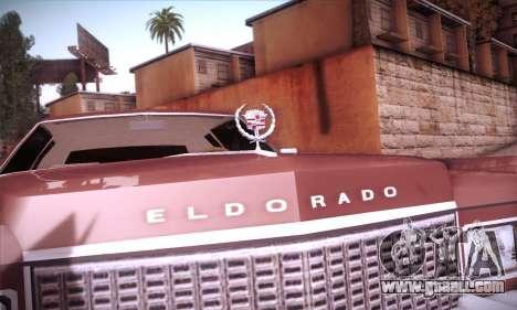 Cadillac Eldorado 1978 Coupe for GTA San Andreas upper view