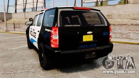 Chevrolet Tahoe Police [ELS] for GTA 4 back left view