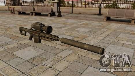 Barrett M82A1 sniper rifle with a silencer for GTA 4