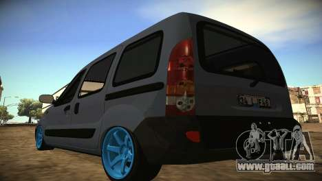 Renault Kangoo 2005 v1.0 TMC for GTA San Andreas back left view