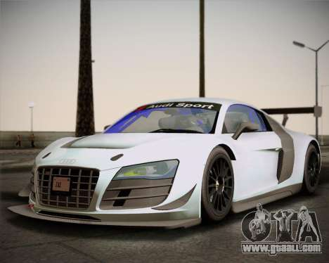 Audi R8 LMS Ultra v1.0.1 DR for GTA San Andreas left view