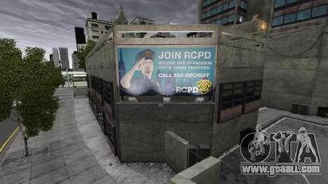 Police station, Raccoon for GTA 4 third screenshot