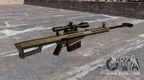 Barrett M82A1 sniper rifle Light Fifty for GTA 4 second screenshot