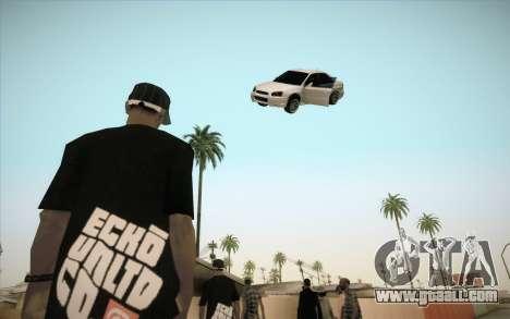 Freeze car in air for GTA San Andreas third screenshot