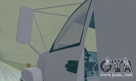 GMC C550 Topkick Trashmaster for GTA San Andreas inner view