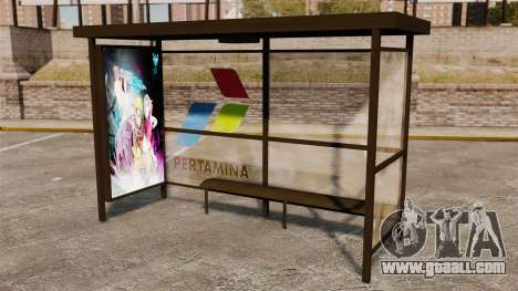 Bus stops Naruto for GTA 4 second screenshot