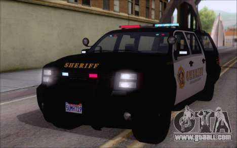A police jeep from GTA V for GTA San Andreas