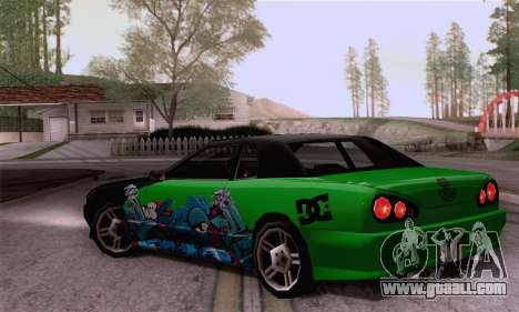The painting work for Elegy for GTA San Andreas left view