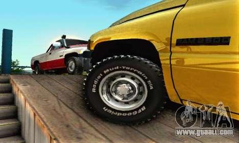 Dodge Ram 2500 for GTA San Andreas upper view