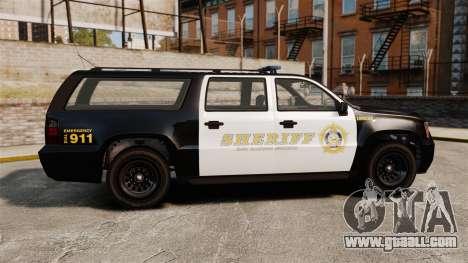 GTA V Declasse Granger Sheriff for GTA 4 left view
