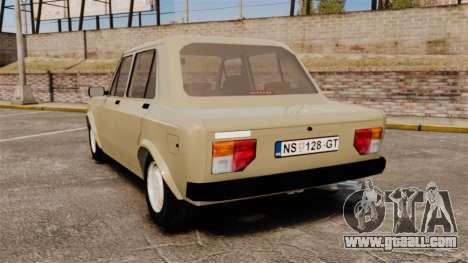 Zastava Yugo 128 for GTA 4 back left view