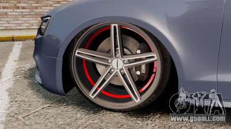 Audi S5 Convertible 2012 for GTA 4 inner view