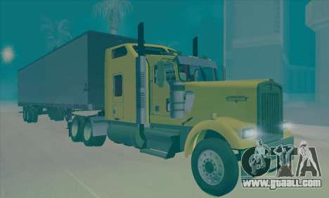 Kenworth W900L for GTA San Andreas back left view