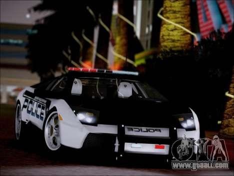 Lamborghini Murciélago Police 2005 for GTA San Andreas right view