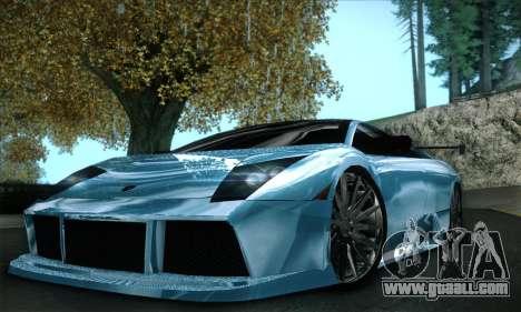 Lamborghini Murcielago GT Coloured for GTA San Andreas bottom view