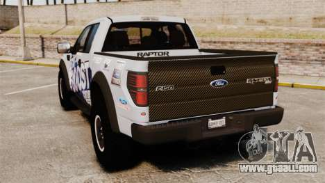 Ford F-150 SVT Raptor 2011 ECOBoost for GTA 4 back left view