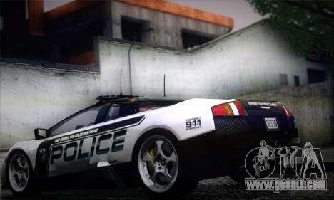 Lamborghini Murciélago Police 2005 for GTA San Andreas left view