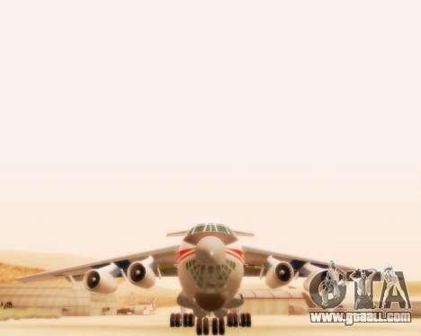 Ilyushin Il-76td for GTA San Andreas back left view
