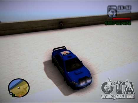 Subaru Impreza WRX STI WRC for GTA San Andreas back left view