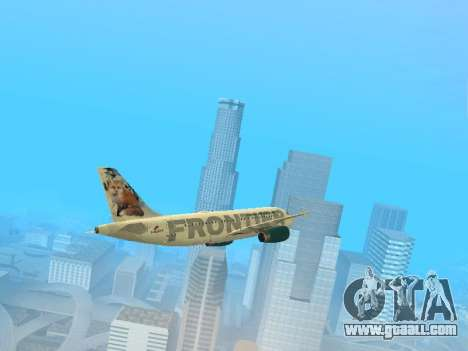 Airbus A319-111 Frontier Airlines Red Foxy for GTA San Andreas side view