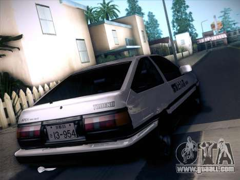 Toyota Trueno AE86 Initial D 4th Stage for GTA San Andreas left view