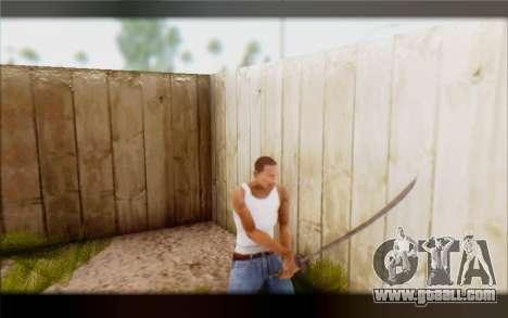 Ebonite Blade for GTA San Andreas third screenshot