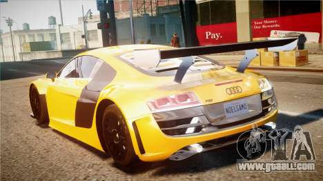 Audi R8 LMS for GTA 4 back view